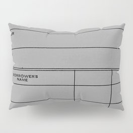 Library Card BSS 28 Gray Pillow Sham