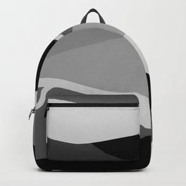 Gray and Pewter Waves Backpack