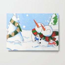 Snowtree Metal Print