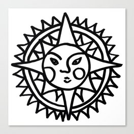 Smiling Sun Canvas Print