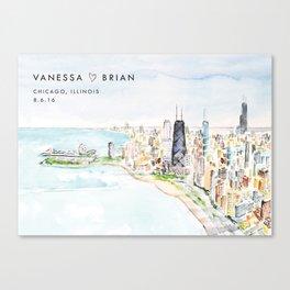 Chicago No. 1 - VB Custom Order Canvas Print