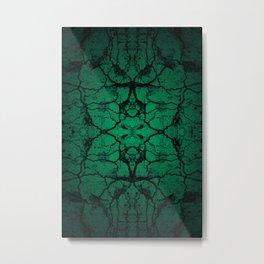 Green cracked wall Metal Print