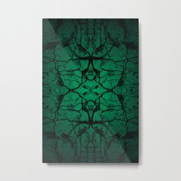 Green cracked wall Metal Print