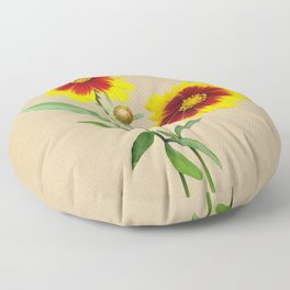 Tickseed Botanical Floor Pillow