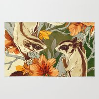 washington Area & Throw Rugs featuring Sugar Gliders by Teagan White