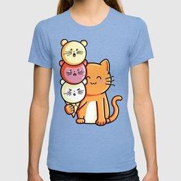 Kawaii Cute Cat and Micecream T-shirt