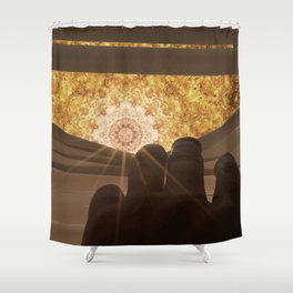 Mandala World Shower Curtain