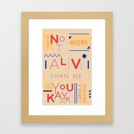 Haikuglyphics - Do the Dew Framed Art Print