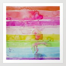 Fruity Stripe Art Print