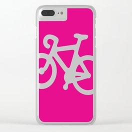 Pink Bike Clear iPhone Case