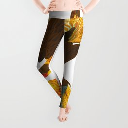 Caracara Eagle Illustration Leggings