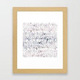 MAGIC MERMAID WHITE Framed Art Print