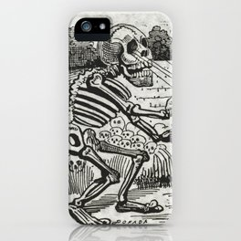 Grand electric skull by Jose Guadalupe Posada iPhone Case