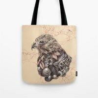 hawk Tote Bags featuring Hawk by Adrian Chin