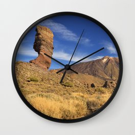 Rock formations in the Teide National Park on Tenerife Wall Clock