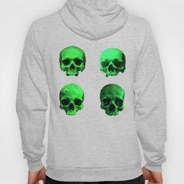 Skull quartet green Hoody