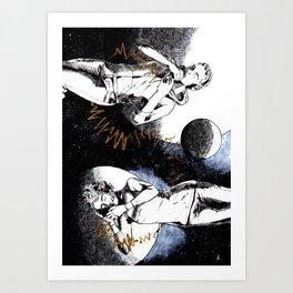Mars Terra Love Art Print