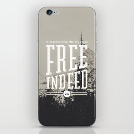 Free Indeed - Photo iPhone Skin