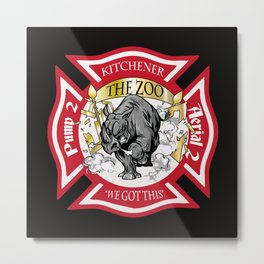 Station 2, We Got This RED Metal Print