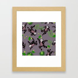Getting jiggy with it sloths Framed Art Print