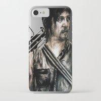 daryl dixon iPhone & iPod Cases featuring Daryl Dixon by Mandi Ward