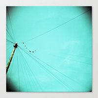 the wire Canvas Prints featuring Wire by Cassia Beck