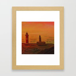 Good Morning / New and Old Lighthouse Fuencaliente La Palma Framed Art Print