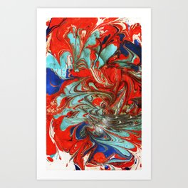 SamuSly - Marbled Paper Series Art Print