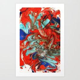 SamuSly - Marbled Paper Series Art Print