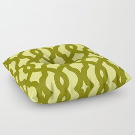 Grille No. 2 -- Yellow Floor Pillow