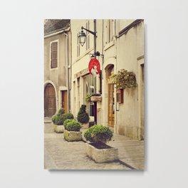 Le P'tit Paradis, Beaune France Storefront Metal Print