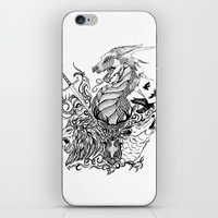 game of thrones iPhone & iPod Skins featuring Game of Thrones by Ink Tales