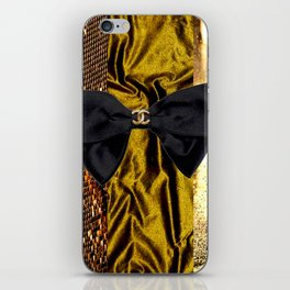 COCO GLAMOUR AND VINTAGE : BOW iPhone Skin