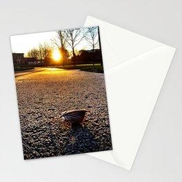 Frosty Leaf Stationery Cards