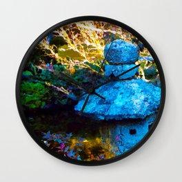 Japanese Painted Garden Wall Clock