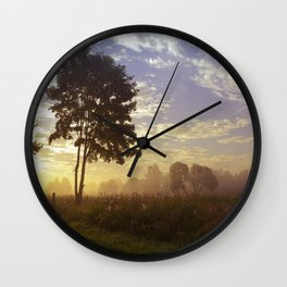 One summer day (wide) Wall Clock