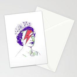 Queen Elizabeth / Aladdin Sane Stationery Cards