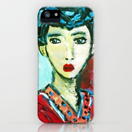 LADY MATISSE IN TEEN YEARS iPhone Case