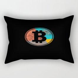 Pop Art Vintage Retro Bitcoin Cryptocurrency Rectangular Pillow