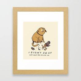 guilty dog Framed Art Print