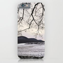 """""""Photography of Nature"""" Snowy landscape at dusk in Winter at Piliscsev, Hungary iPhone Case"""