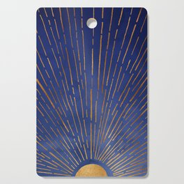 Twilight / Blue and Metallic Gold Palette Cutting Board