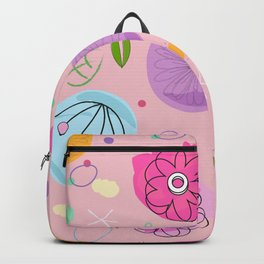 Decorative Colorful Abstract Flower Pattern Backpack