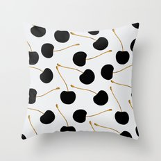 Black Cherries Throw Pillow