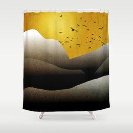 Sunrise Mountain Landscape Shower Curtain