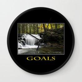 Inspirational Goals Wall Clock