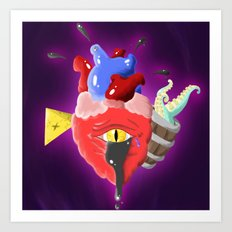 Cursed Heart Art Print