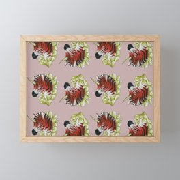 Red Zebracorn Framed Mini Art Print
