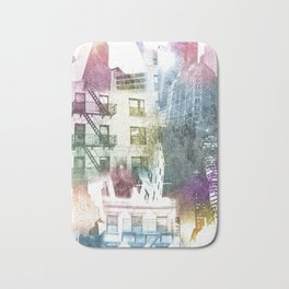 N.Y. collage color burst Bath Mat