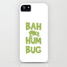 Bah Humbug Frog Funny Anti Christmas Grumpy Grouch Pun Cool Humor Gift Design iPhone Case